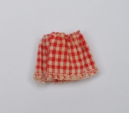 Tutti #3608 Let's Play Barbie gingham doll skirt, perfect, htf