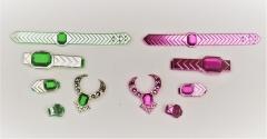 Barbie 1986 Jewel Secrets two jewelry sets, purple and green