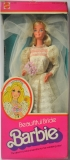 Barbie doll 1976 Superstar Bride NRFB, box has wear, some discoloration of side and upper card