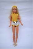 Skipper doll 1980 Disco, with some playwear on the outfit, slippers miss straps