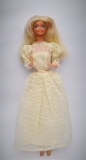 Barbie doll 1986 Congost with Congost variation of Superstar Bride dress 1