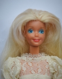 Barbie doll 1986 Congost with Congost variation of Superstar Bride dress 2