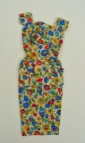 Barbie outfit 1965 PAK On the Go, floral sheeth dress