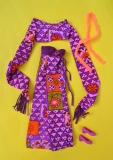 Barbie outfit 1970 Live Action Christie doll, with orange scarf and shoes