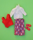 Tutti Todd outfit 1977 #7484 Handsome For School, excellent, seam repair