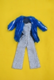 Barbie outfit 1978 #2481 Dramatic Blue and Silver a Glitter