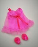 Barbie outfit 1971 #3403 Baby doll pink, with slippers