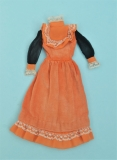 Barbie outfit 1972 #3490 Party Lines dress, orange black variation