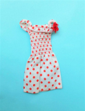 Barbie outfit 1975 #7417 red dotted summer dress