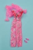 Barbie outfit 1976  #9624 silver and pink party suit
