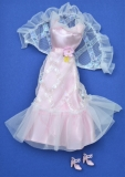Barbie outfit 1977 #9738 PInk and White LIghts the Night