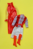 Barbie outfit 1977 #9739 Red Shine for Rain