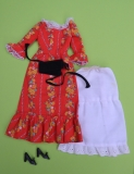 Barbie outfit 197 2#3360 Pleasantly Peasantly, with htf belt, shoes underskirt