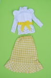 Barbie outfit 1973 #3205 Gingham 'n Lace (yellow)