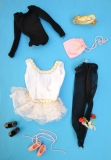 Barbie outfit 1973 #7701 Ballerina, guag, htf black shoes