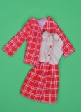 Barbie outfit 1974 #7821 red & beige checked