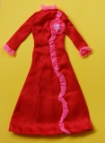 Barbie outfit 1974 #7757 red maxi dress