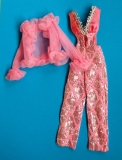 barbie outfit 1977 #9624 silver and pink party suit