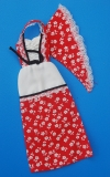 Barbie outfit 1978 #2228 red white peasant dress scarf