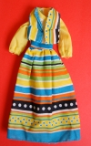 Barbie outfit 1978 #2229 yellow multicolored striped dress and vest