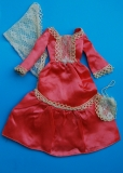 barbie outfit 1976 #9422 satin peach dress DUBBEL