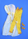 Barbie outfit 1980 #1412 Designer Originals, gold with mustard shoes
