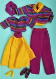 Barbie outfit 1987 #4479 and Ken  #4496 Sweater Soft