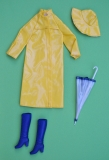 Barbie outfit 1981 #3792 Fashion Favorites, yellow rain coat