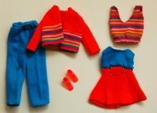 SOLD Barbie outfit 1976 #9698 Coordinato Giovanne or Sportlich Chic