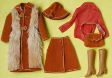 Barbie outfit 1974 European Exclusive Pelliccia Sportiva, complete