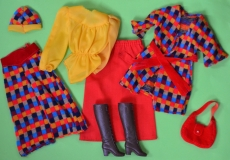 SOLD Barbie outfit 1976 #9424 Chic in Hosen, European Exlusive