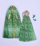 Barbie outfit 1977 #9469 Elegance Green Brocade, European Exclusive (2)