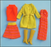 SOLD Barbie outfit 1976 #97 European Exclusive #8197 Dressed warm or Prime Pioggie loose