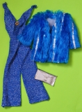 SOLD Barbie outfit 1978 2253 Dramatic Blue and Silver a Glitter, Fashion Originals, European issue
