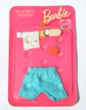 Barbie outfit 1974 #8180 Mix n Match European exclusive, blue shorts (1)