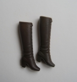 Barbie shoes boots laceup dark brown (taiwan)