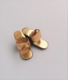 Barbie shoes wedges gold