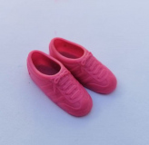 Barbie shoes trainers 1980s pink