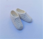 Barbie shoes trainers 1980s  white