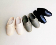 Ken shoes loafers (taiwan) white grey blue