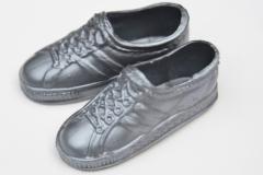 Ken shoes Rock Stars silver trainers.