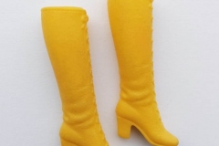 Barbie shoes boots laceup yellow