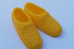 Barbie shoes trainers 1980s yellow