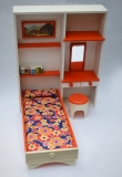 Barbie size furniture bedroom wooden Frade 1
