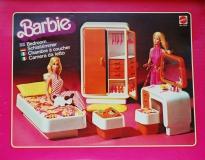 Barbie furniture 1978 Dream Furniture Bed Room orange variation 1