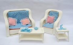 Barbie furniture 1982 Dream Furniture Living Room 1983 #7404 Dream Furniture