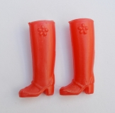 Daisy shoes boots red