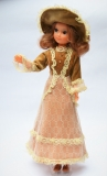 a Fleur doll gauntlet with lashes, in Belle outfit, with brown bow shoes, perfect 1