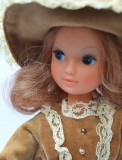 a Fleur doll gauntlet with lashes, in Belle outfit, with brown bow shoes, perfect 2