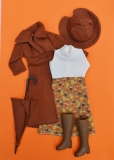Fleur outfit doll Rainy Days brown